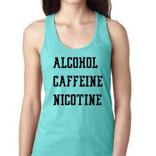 Alcohol Caffeine Nicotine Shirt Shameless Netflix Fiona Gallagher Women's Tank