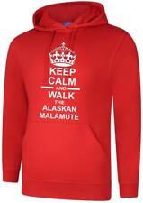 Keep Calm & Walk The Alaskan Malamute Dog Hoody Hoodie Hooded Sweatshirt