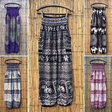 Boho Harem Pantalones de Yoga Pantalones De Elefante Floral Festival Hippy Hippie Holgado
