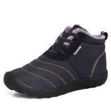 Waterproof Men Snow Boots Winter Plush Warm Short Boots Duty Work Shoes Fashion