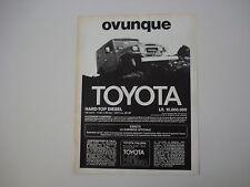 advertising Pubblicità 1980 TOYOTA LAND CRUISER HARD-TOP DIESEL