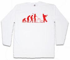 Zombie Evolution White manga larga T-Shirt horror The Walking Living Dead Fun
