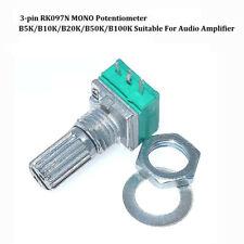 RK097N MONO Audio Potentiometer 3-pin B5K/B10K/B20K/B50K/B100K For Amplifier