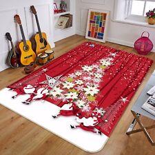3D Red Style Christmas 9 Non Slip Rug Mat Room Mat Round Elegant Photo Carpet CA