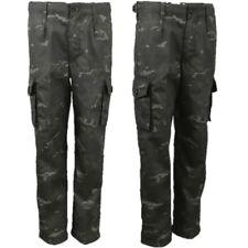 Enfants pantalon armée âge 3-13 garçon fille déguisement SAS noir camouflage