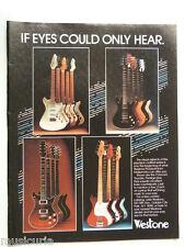 retro magazine advert 1983 WESTONE guitars