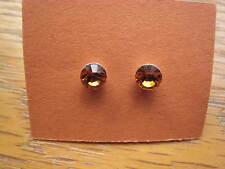 1 pr TOPAZ Gold Yellow Swarovski elements Austrian Crystal stud earrings 5mm