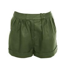 Women Leather Sport Shorts Hot Pants High Waist Club wear Sexy Fashion WSAU002