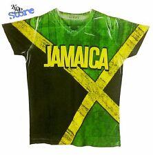 KenJeanne - Men's Jamaica Flag Jersey V-neck T-shirt