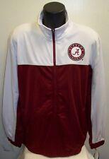 Alabama CRIMSON TIDE Track Jacket with Fleece Lining M L XL  Maroon & White