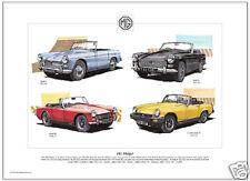 Mg Midget Fine Art Print-Mki, Mkii, Mkiii, Mkiv Cars