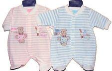 Premature Baby / Tiny Baby / Newborn Baby - Velour all in one babygro / playsuit