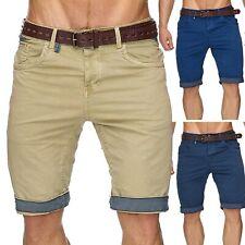 Señores shorts Bermuda pantalones cortos cargo cuba chino incl. cinturón top marine casual