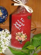 Kerze mit schönen Motiven - Hochzeit,Silberhochzeit,Muttertag,Valentinstag