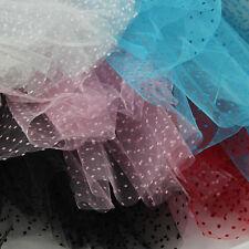Tulle Fabric 100% Nylon Tutu Spotty Flocked Dots Net metre 140cm wide