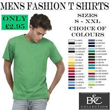 Nuevo para hombre Plain Moda T Shirt-todos Los Tamaños Colores