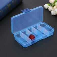 10 Compartiments en Plastique Transparent Boîte de Rangement Bijoux Stockage