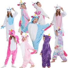 Kids Onesie16 Pajamas Sleepwear rainbow Unicorn Kigurumi Animal Cosplay Costume