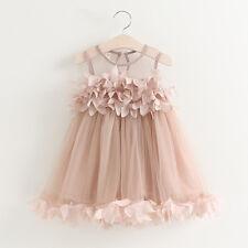 2018 Toddler Girls Clothes Applique Princess Dress Children Summer Mesh Dresses