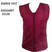 Barber vest,Barber jacket,barber stylist vest,Black vest M to 3xl size burgundy