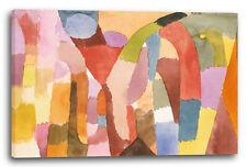 Lein-Wand-Bild Kunstdruck: Paul Klee - Bewegung von gewölbten Räumen (1915)