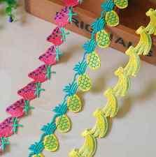 3 yards Fruit shape Cotton Crochet Lace Trim Wedding Bridal Ribbon Sewing Craft