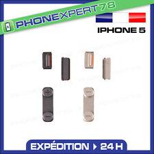 KIT BOUTONS VOLUME + VIBREUR + POWER pour IPHONE 5 NOIR ou GRIS
