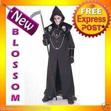 C832FN Death Reaper Scary Skeleton Monster Halloween Fancy Dress Robe Costume