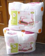 Circo Pink Flower Dot Girls Quilt Sham Bed Set-F/Queen-Twin-Orange White Cotton