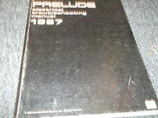 1987 Honda Prelude Electrical Troubleshooting Wiring Diagram Manual EWD EVTM
