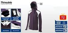 Ladies Plum Ski Jacket -Back Body Lined With Fleece - Stowable Hood in Collar
