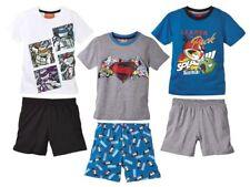(R39) Kinder Jungen Shorty Schlafanzug Hausanzug Pyjama Superman Turtles NEU
