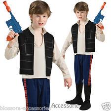 CK375 Han Solo Boys Star Wars Child Halloween Book Week Fancy Dress Up Costume
