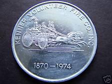 1974 Kenner Fire Dept. Aluminum Mardi Gras Doubloon