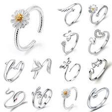 Mode Damen 925 Silber Finger Ringe Edelstahlring Fingerring Daumenring Schmuck