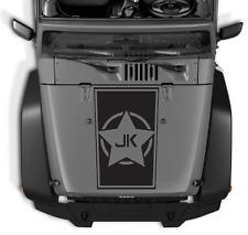 JK Army Star Hood vinyl sticker decal Fits  Jeep wrangler ram 23e