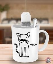 Moustache Kitty Tea / Coffee Mug ~ Mustache Kitteh