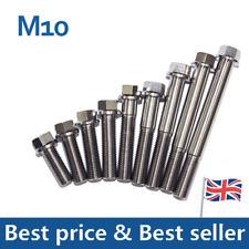 M10 Titanium Ti Flange Hex Bolt Head Cap Screw 25 30 35 40 50 55 70 80 90 110MM