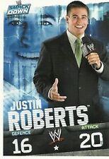 WWE Slam Attax Evolution- Justin Roberts Smackdown Card