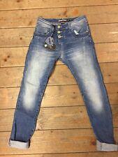 Pantalone Jeans Donna Please P78 Cavallo Basso Baggy Nuova Collezione Denim
