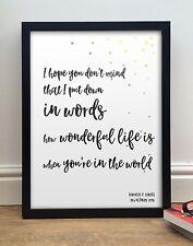 Elton John Ellie Goulding | Your Song | Personalised Anniversary Framed Print