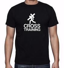 NEW MENS PRINTED CROSS TRAINING JESUS GOD LOVE CHRISTIAN GRAPHIC DESIGN T-Shirts
