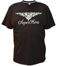 Übergrößen !!! Designer T-Shirt HONEYMOON   SuperHero   4XL