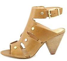 Women's Shoes Vince Camuto EKERD Sandals Cone Heels Studs Leather Tan Sandy Lane