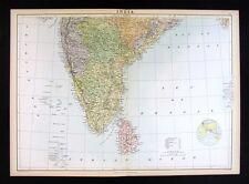 1879 Black Atlas Map - South India - Ceylon Bombay Madras Bengal Trimcomalee