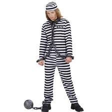 Kinder Sträflingskostüm Schwerverbrecher Outfit Verbrecher Häftlings Kostüm