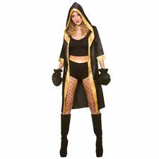 Ladies Knockout Boxer Costume for Boxing Fighter Wrestler Sport Fancy Dress