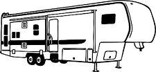 Camping 5th Wheel RV Camper Car Truck Window Wall Laptop Vinyl Decal Sticker