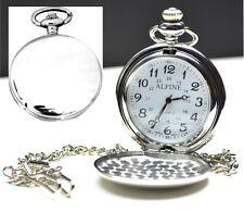Personalised Silver Pocket Watch Engraved gift Bestman Groomsman Gift Dad, Daddy