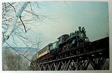 Green Mountain 89 Railroad Train Crossing Trestle Ludlow Vermont Postcard #66gf5
